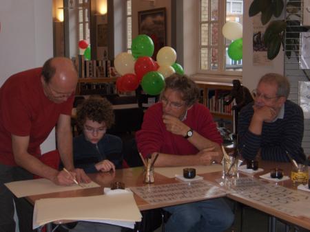 Calligraphie avec Bruno Riboulot